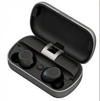 Вакуумные Bluetooth наушники Tws S8 с кейсом Серебро