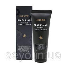 Очищающая пенка с муцином черной улитки  AYOUME Black Snail Prestige Foam Cleanser, 60 мл