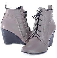 Женские кожаные ботинки Lights, серые