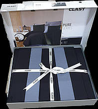 Комплект постельного белья Clasy Pure Series 200*220 v1 черный