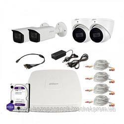 HDCVI комплект видеонаблюдения Dahua CVI-2M-4COMBI-Pro-Full