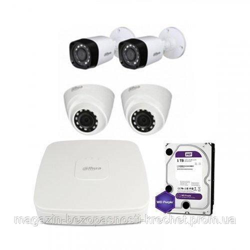 HDCVI комплект видеонаблюдения Dahua CVI-2M-4COMBI-P-Lite