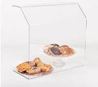 Акриловая защитная подставка на витрину под продукты