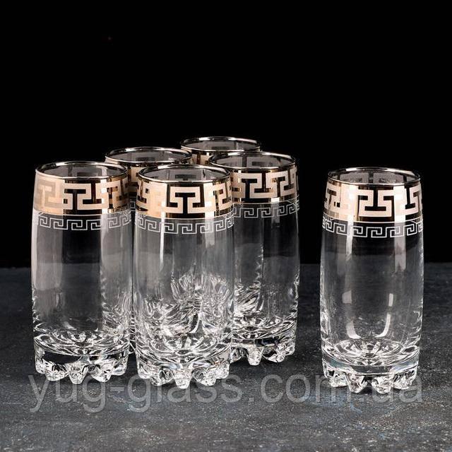 Набор стаканов для сока греческий узор
