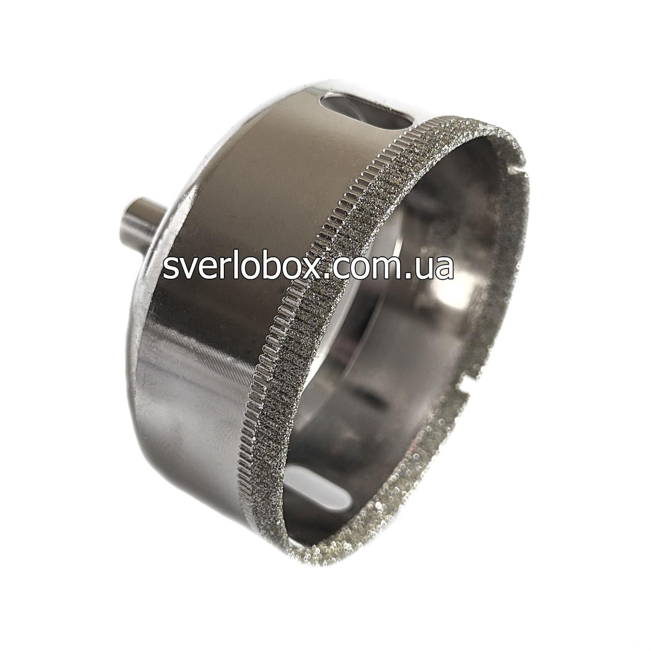 Алмазна Коронка по плитці і склу 65 мм, Коронка 65 мм з алмазним напиленням по склу та кераміці