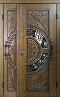 Вхідні двері патина+Vinorit З доставка на адресу! С-5-1 1200*2050 ліва