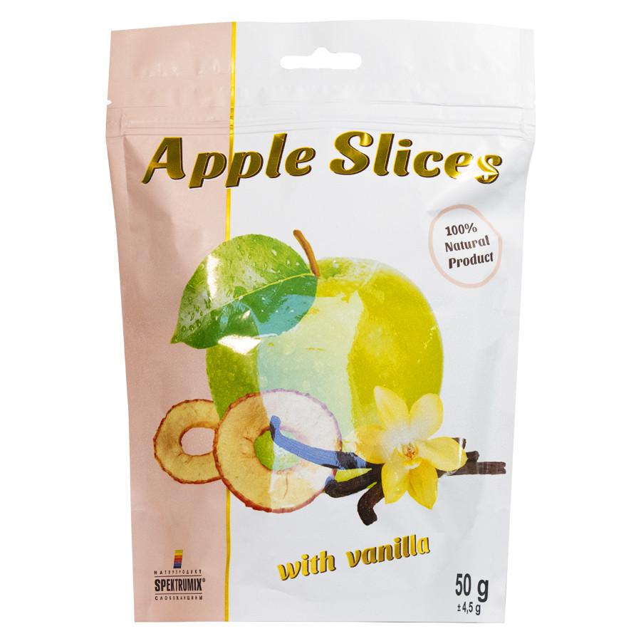 Слайсы яблучні сушені з ваніліном Apple Slices, 50 г