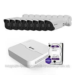IP комплект видеонаблюдения ZetPro IP-2M-8OUT-Lite