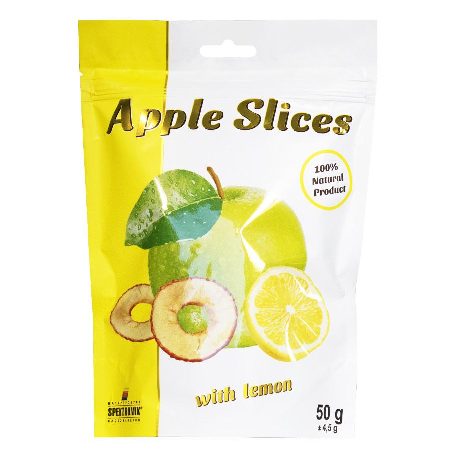 Слайсы яблучні сушені з лимоном Apple Slices, 50 г