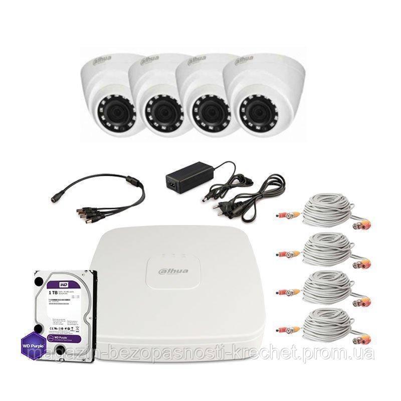 HDCVI комплект видеонаблюдения Dahua CVI-2M-4IN-P-Lite-Full