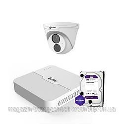 IP комплект видеонаблюдения ZetPro IP-2M-1DOME-Lite