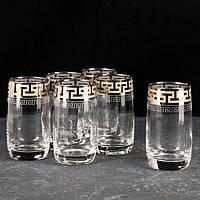 """Набор стаканов 330 мл рисунок """" Греческий узор"""" 6 шт."""