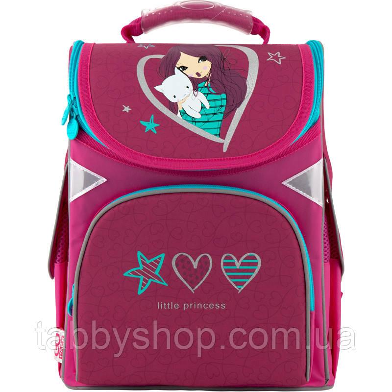Ранець ортопедичний для дівчинки GoPack Little princess рожевий 5001S-3