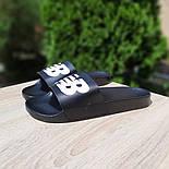 Мужские шлепанцы New Balance шлепки летние низкие сланцы черные. Живое фото. Реплика, фото 3