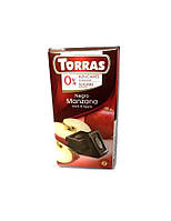 Шоколад без сахара Torras 75гр (Испания) Dark & Apple