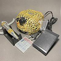 Фрезер для маникюра Nail Drill ZS-601, леопард