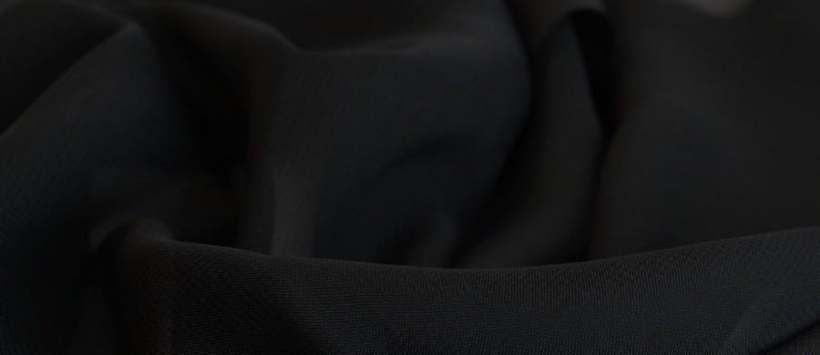 Тканина шифон купити оптом і в роздіб (Ткань шифон купить оптом и в розницу) Чорний TSH-0033