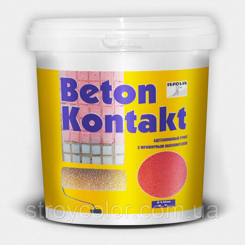 Грунт адгезионный Бетонконтакт с мраморным наполнителем Ispolin 12кг. (Бетон-контакт исполин)