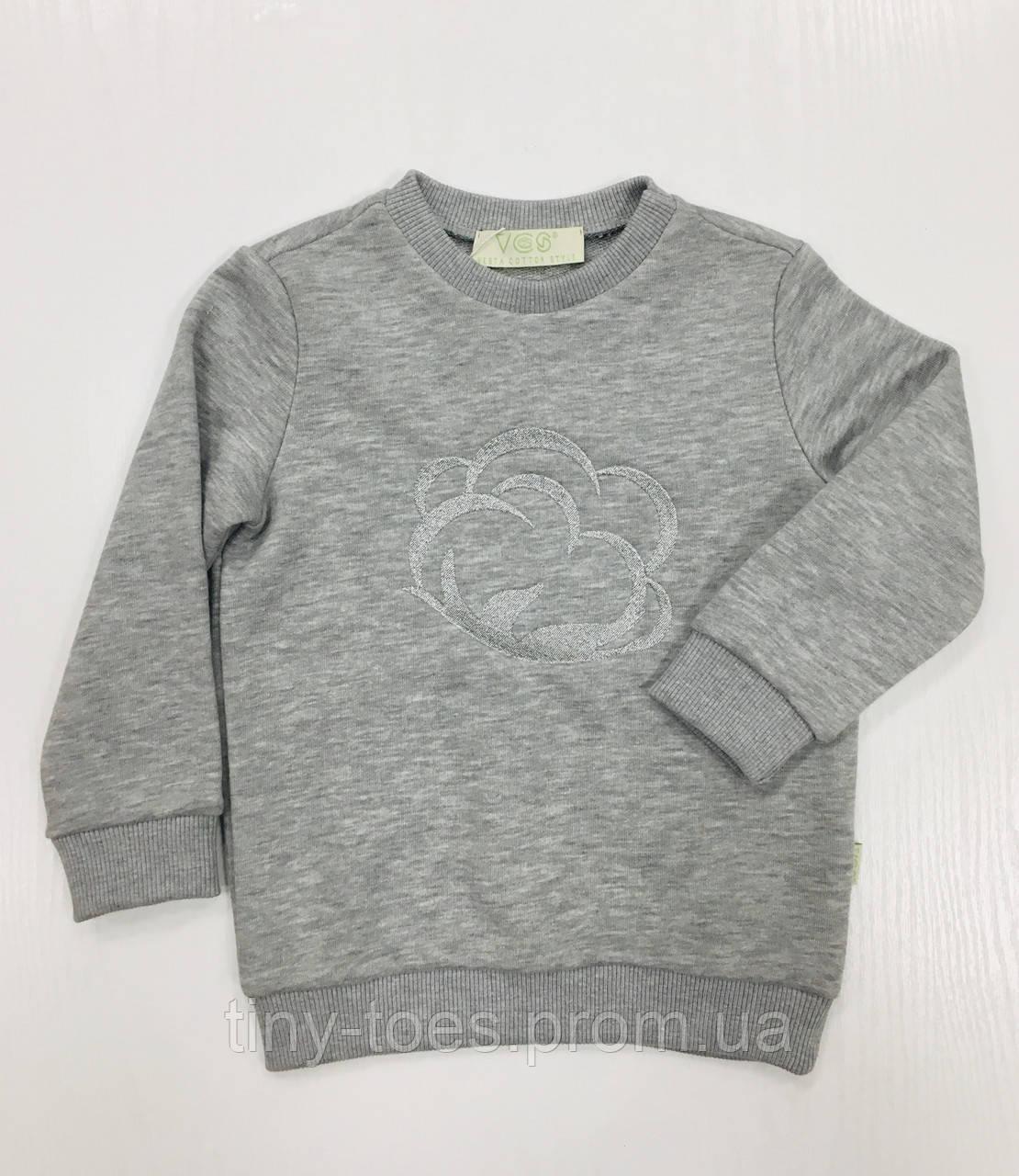 Світшот  для дівчинки сірого кольору бренд VCS розмір 98