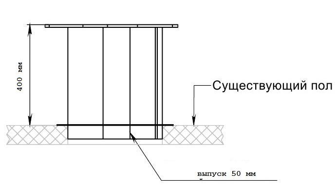 Унитаз нержавеющий для дачи (высокий, H=400 мм) - фото 9