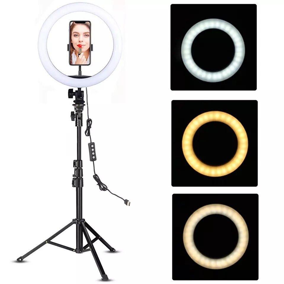 Кільцева лампа 26см світлодіодна зі штативом Ring Fill Light, фото 2