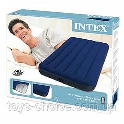 Велюр надувной матрас Intex 64756 PS