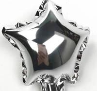 """Фольгована кулька зірка срібний 5"""" Китай"""
