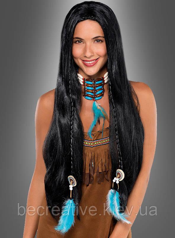 Женский карнавальный индийский парик длинный