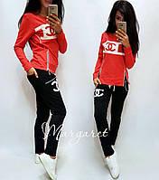 Женский спортивный костюм, Турецкий костюм для прогулок S/M/L/XL/2XL (коралловый), фото 1