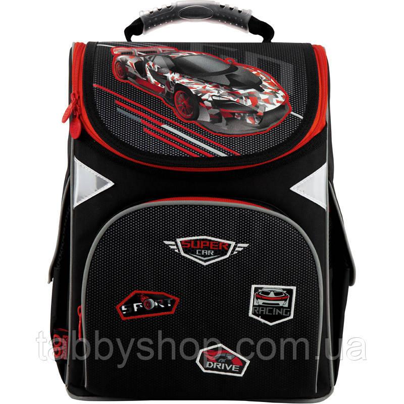 Ранец ортопедический для мальчика GoPack с гоночной машинкой 5001S-14