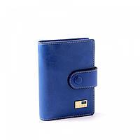 Визитница женская кожаная JCCS V-JS01656 синяя