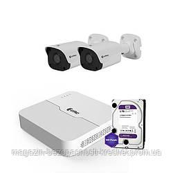 IP комплект видеонаблюдения ZetPro IP-2M-2OUT-Lite