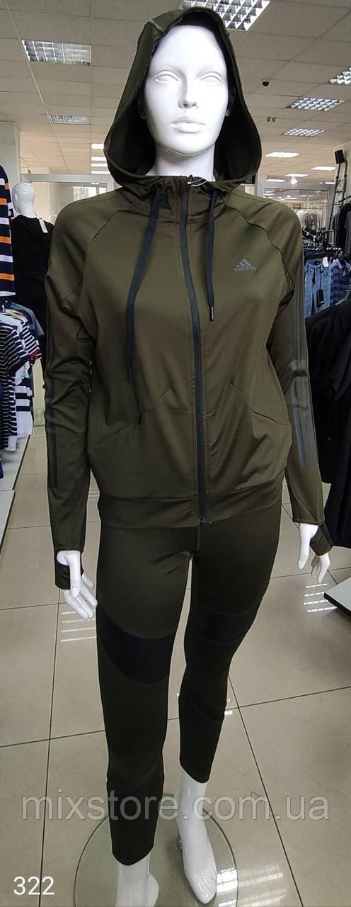 Спортивный женский костюм ADIDAS копия класса люкс