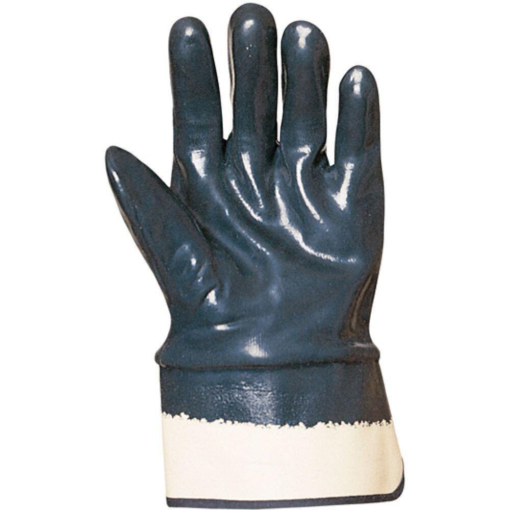 Перчатки МБС с жестким манжетом, покрытые нитрилом р. 10