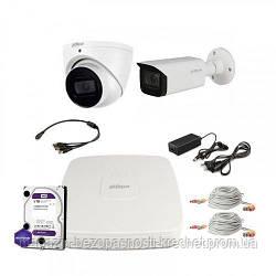 HDCVI комплект видеонаблюдения Dahua CVI-2M-2COMBI-Pro-Full