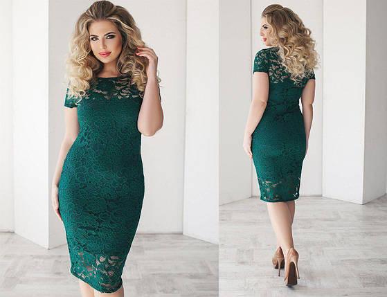 """Нарядное кружевное женское платье """"Гипюр на подкладке"""" 48, 50 размер 48, фото 2"""