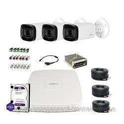HDCVI комплект видеонаблюдения Dahua CVI-4M-3OUT-Pro-Full
