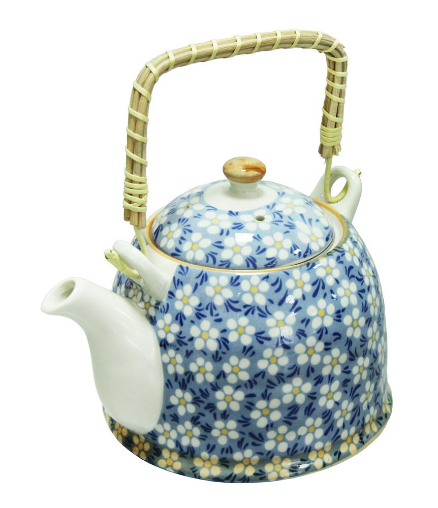 Чайник с ситом - 900 мл, Голубой (UNO PRO) Домашний
