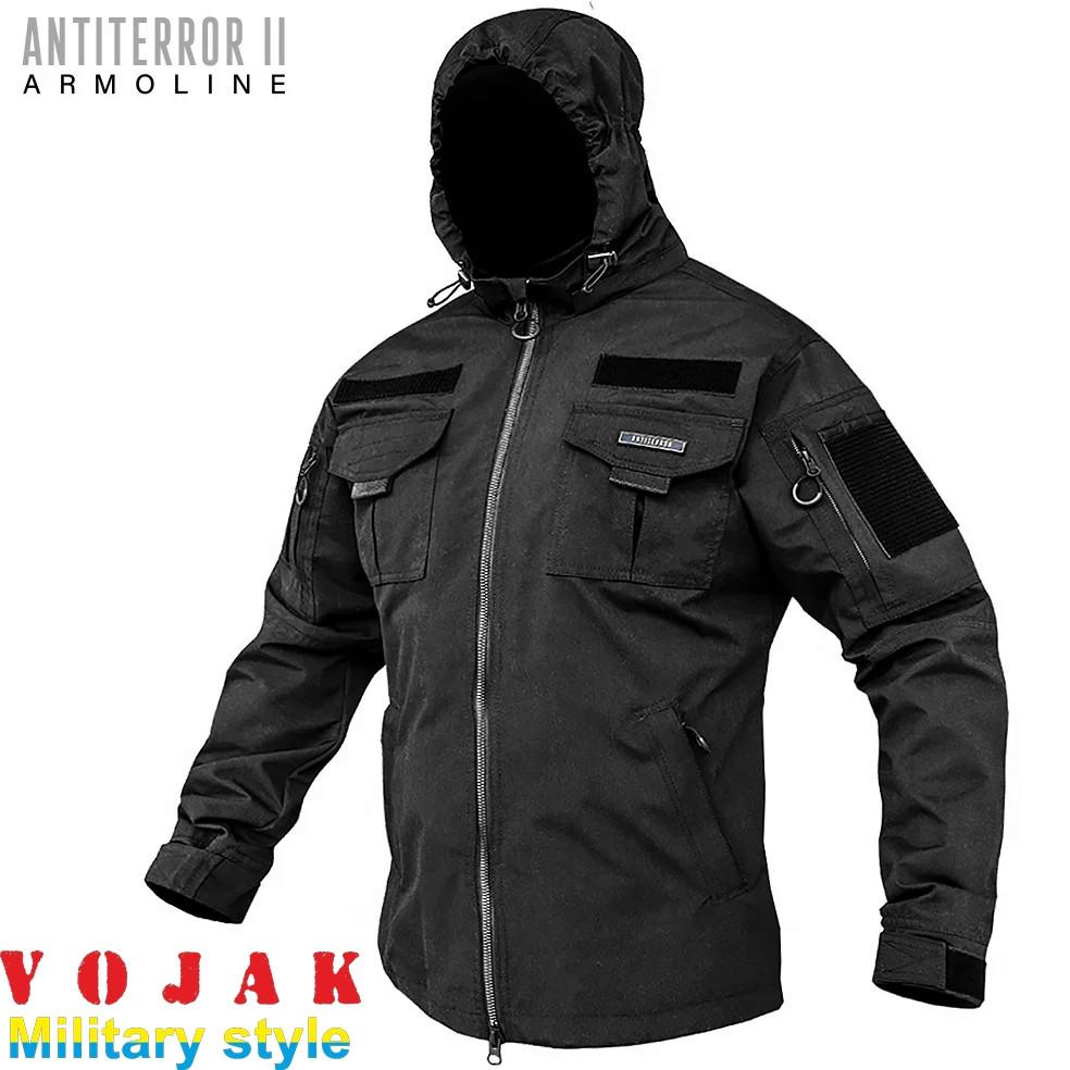 Куртка тактическая Мембрана Black (ANTITERROR II)