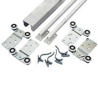Раздвижная система для шкаф-купе Новатор для 2х дверей весом до 30 кг и рельса 1.5 м