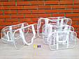 Сумка прозора S 31/21/14см, Біла, фото 5