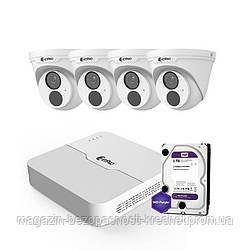 IP комплект видеонаблюдения ZetPro IP-2M-4DOME-Lite