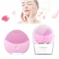 Щетка массажер для лица foreoLuna Mini2 форео луна мини Чистки кожи масажер силиконовая щеточка щітка обличя