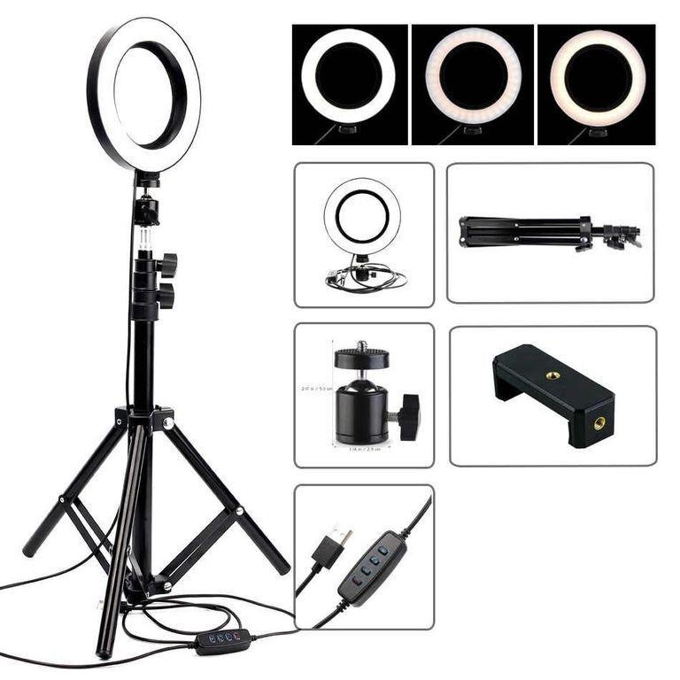 Кільцева лампа LED зі штативом 200см для професійної зйомки, фото 3