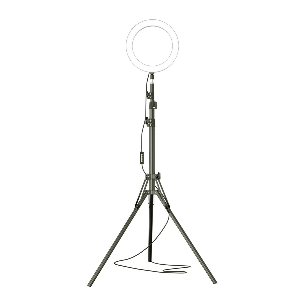 Кольцевая лампа LED со штативом 200см для профессиональной съемки, фото 4