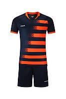 Футбольная форма Europaw 021 т.сине-оранжевая