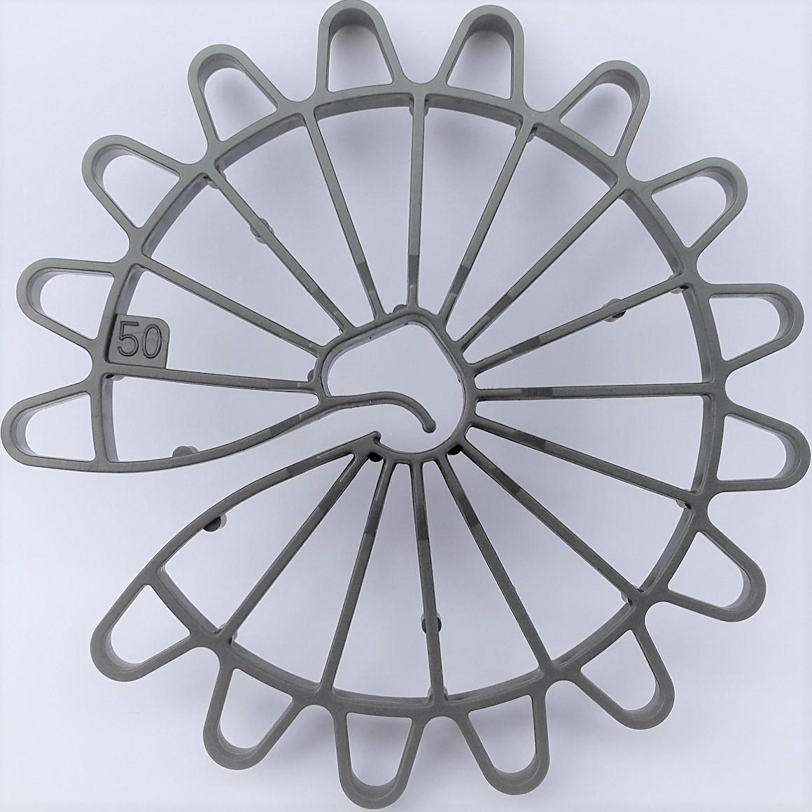 Фіксатор зірка 50 (фиксатор защитного слоя для стеновой опалубки Звездочка 50 мм), 200 в упаковке