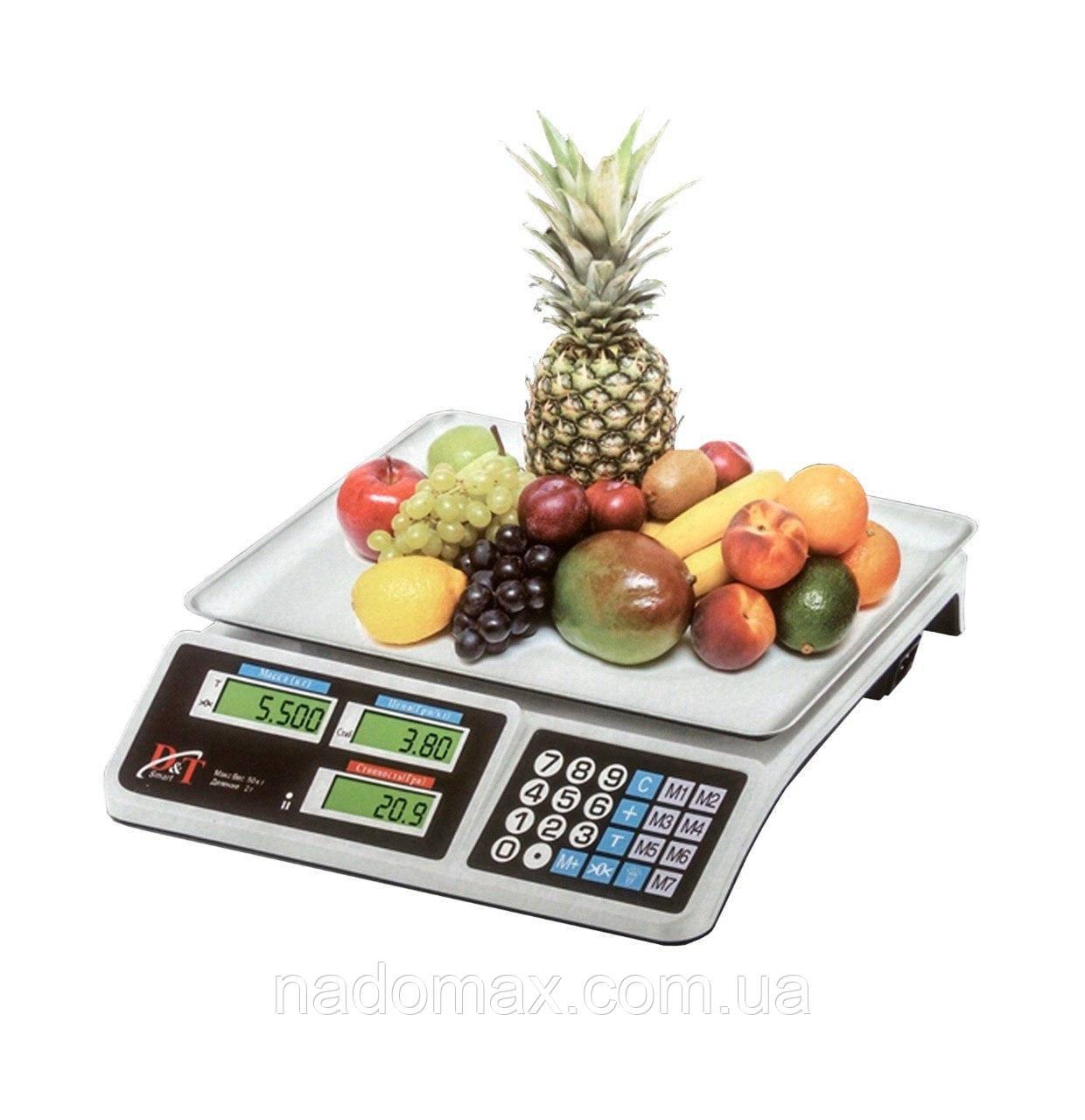 Весы торговые электронные DT smart 809 до 50кг, деление 2г