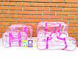 Сумка прозора L 50/25/30см, Рожева, фото 5