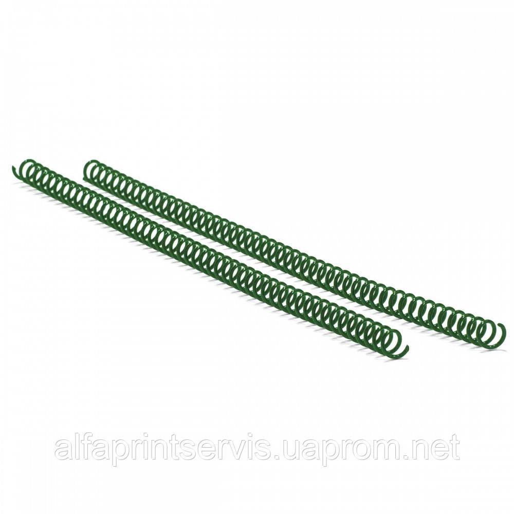 Спираль пластиковая Agent A4, 4:1, 14мм, зел, уп/100